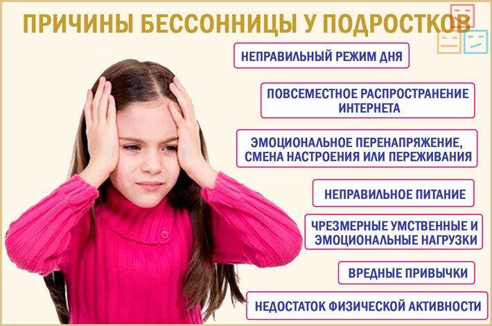 причины бессоницы у подросков