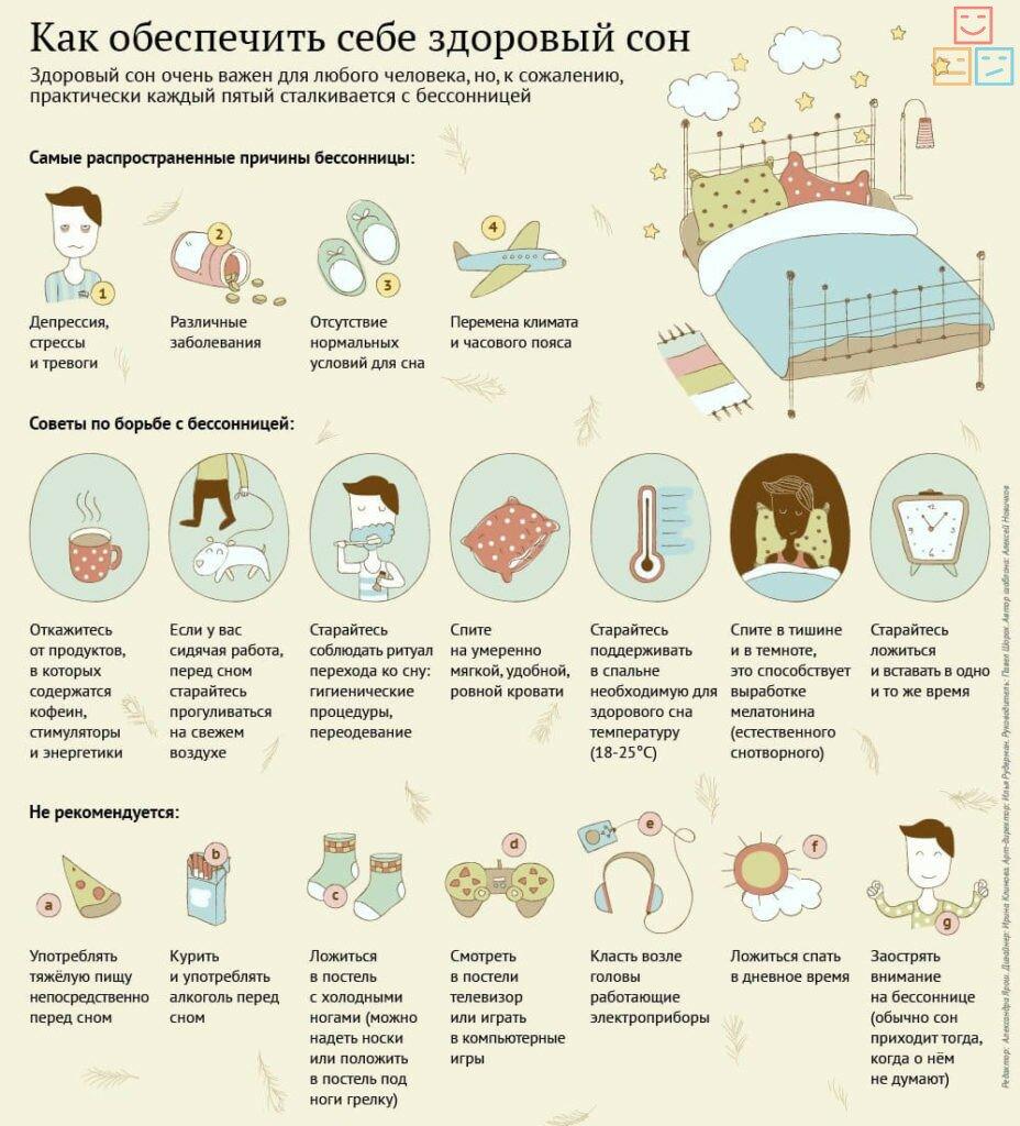 рекомендации, как обеспечить себе здоровый сон