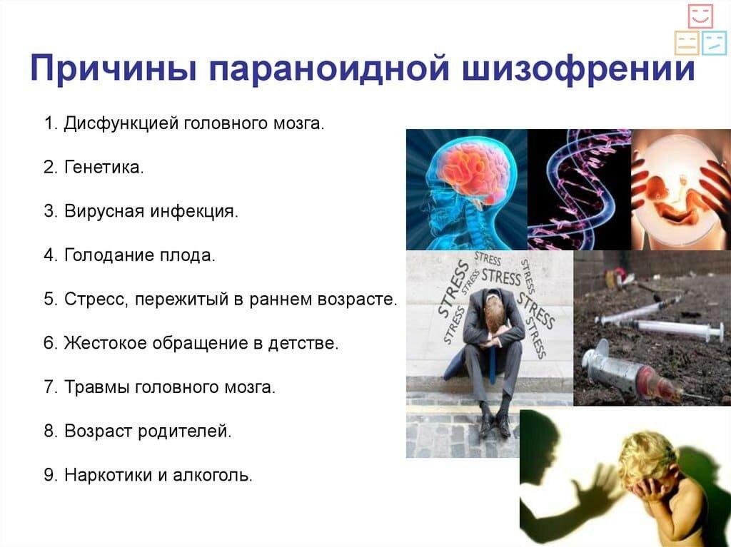 причины параноидальной шизофрении
