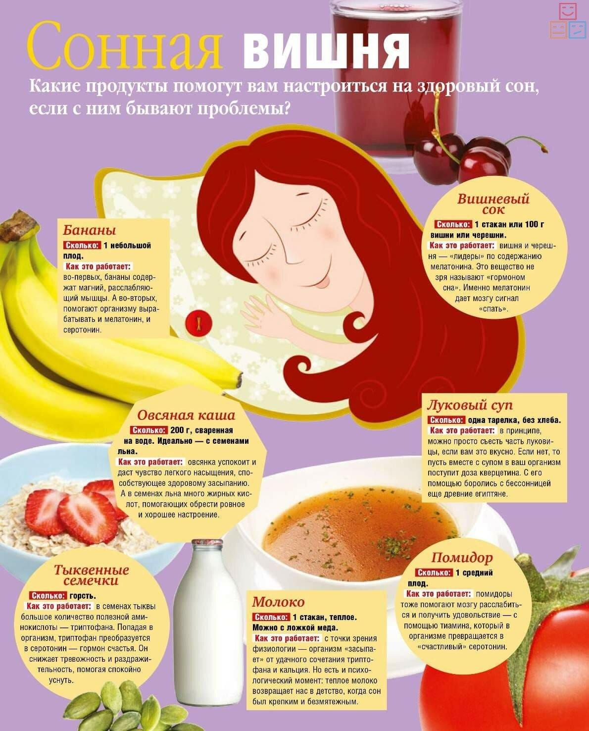 продукты для здорового сна